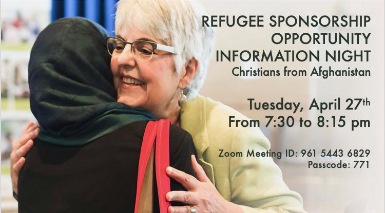 Refugee Sponsorship Apr 27